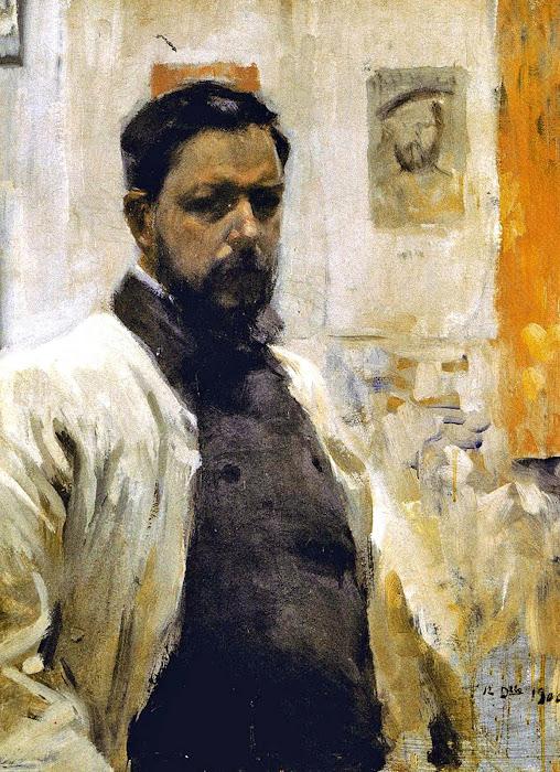 Autorretrato con bata blanca, Joaquín Sorolla, Retratos de Joaquín sorolla, Pintura española, Autorretrato, Self Portraits
