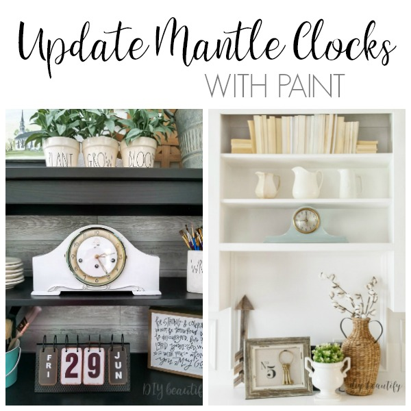 painted mantle clocks are so charming
