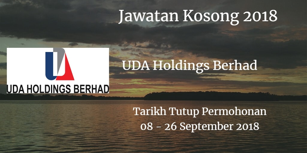 Jawatan Kosong UDA Holdings Berhad 08 - 26 September 2018