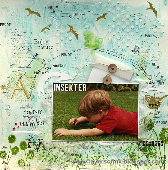 Layers of ink - Insects Mixed Media Layout