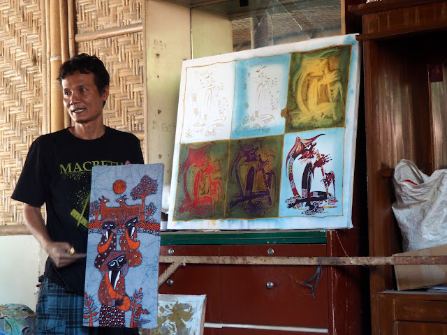 Batik workshop outside Yogyakarta, Java, Indonesia