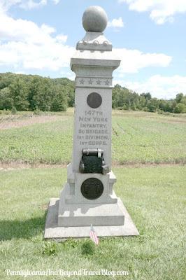 147th New York Infantry Monument - Gettysburg Battlefield
