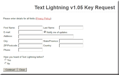 Get Text Lightning v1.05 With Genuine And Working License Key