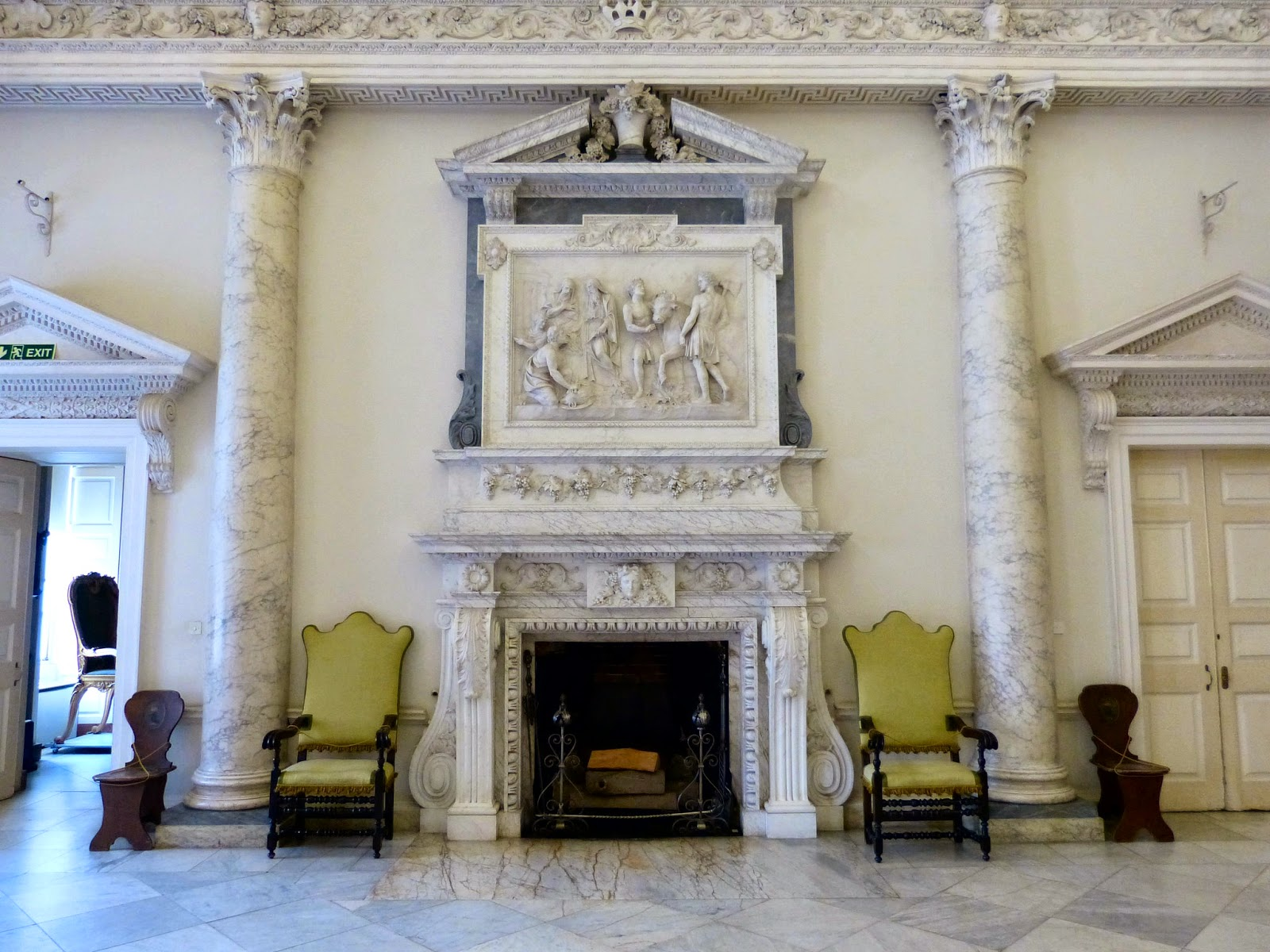 The entrance hall, Clandon Park