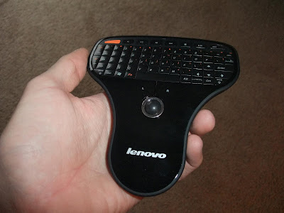 handheld wireless mouse and keyboard, lenovo, track ball