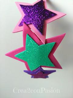 Diademas-corona-y-complementos-para-el-pelo-Crea2-con-Pasión-goma-eva-purpurina-detalle-de-estrellas