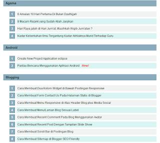 Cara Membuat Sitemap Keren dan Responsive di Blogger