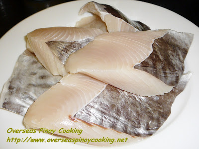 Sinabawan na Isda - Spanish Mackerel Fillet