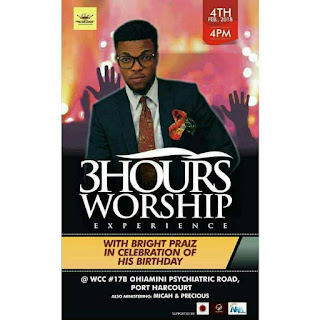 EVENT: 3hours Of Worship With Bright praiz
