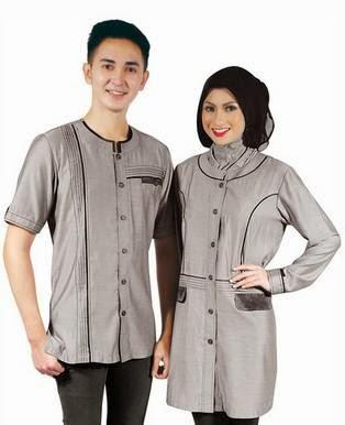 Model Baju Muslim Pesta Couple Modern Terbaru