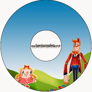Candy Crush Free Printable CD Label.