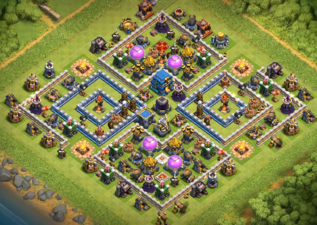 best th12 farming base 3 infernos