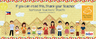 National Teachers' Month Tarpaulin & World Teachers' Day School Banner