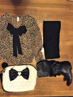 leopard blouse outfit of the day