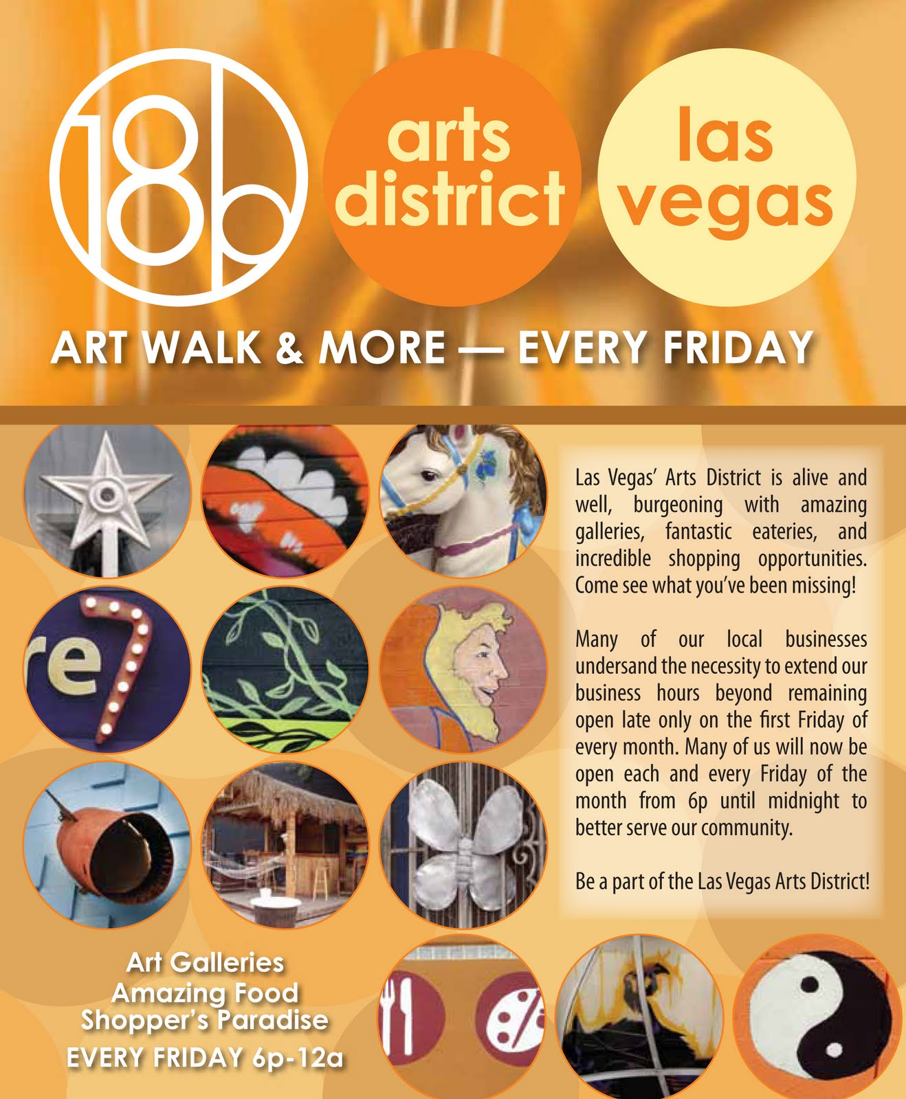 First Friday Las Vegas Map.Las Vegas Arts And Culture New Arts District Map Ready Just In Time