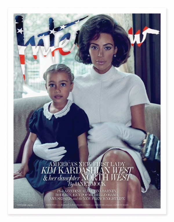 The New First Lady of America? Kim Kardashian West & North West cover Interview Magazine