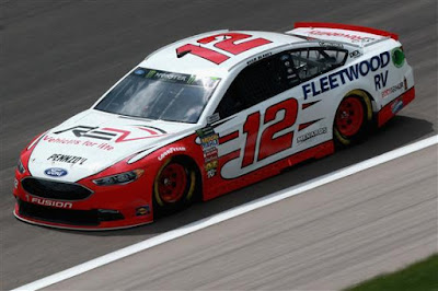 Ryan Blaney qualified second for Saturday's Monster Energy NASCAR  Cup Series KC Masterpiece 400. This is his seventh top-10 start of 2018