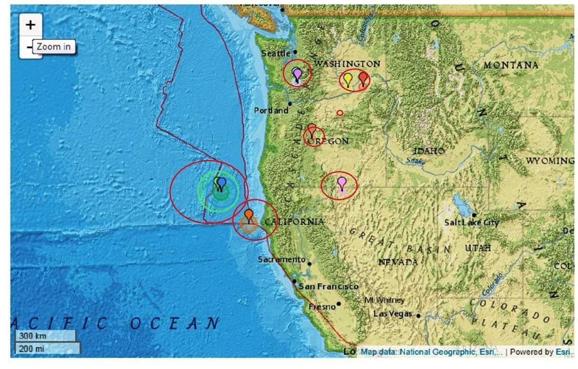 Swarm Of Earthquakes Off Southern Oregon Coast