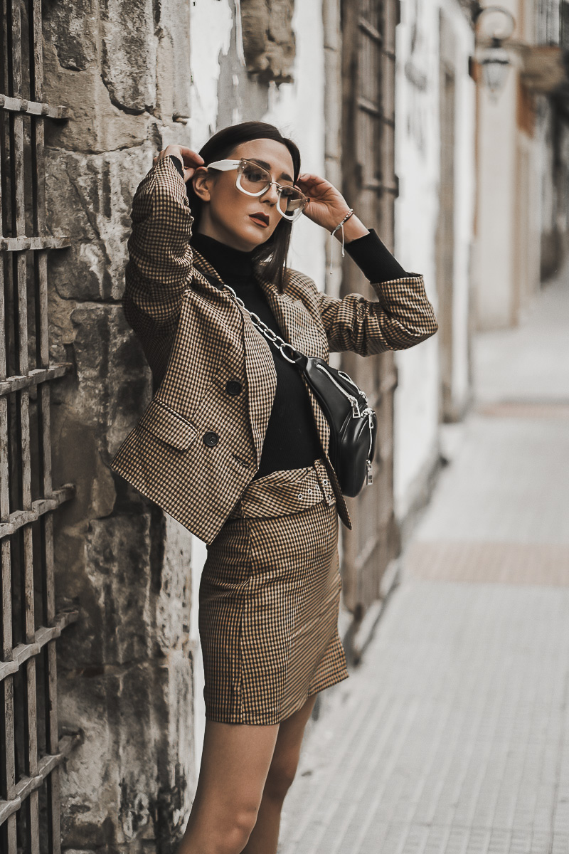 looks dos piezas de cuadros - tendencias de primavera 2019