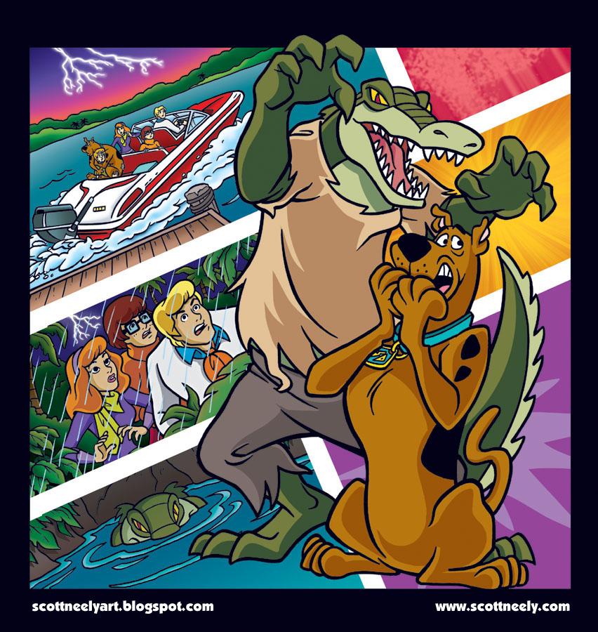 Scott Neely S Scribbles And Sketches Scooby Doo Comic