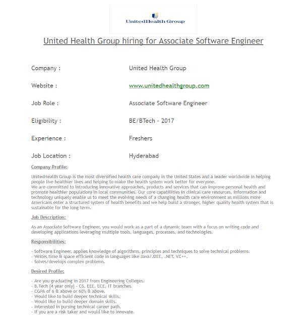 United Health Group Hirings