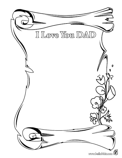 Miss You Daddy Coloring Pages