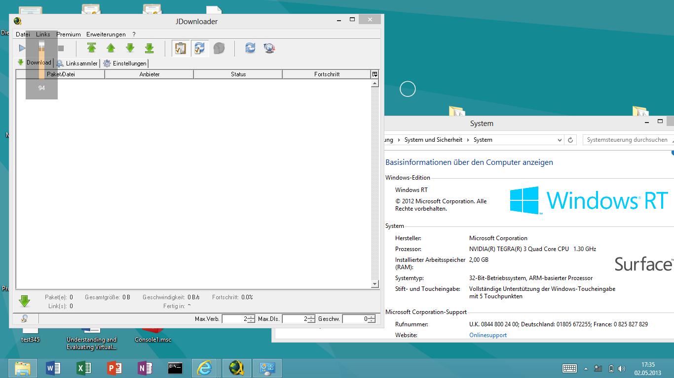 Microsoft Surface RT running JDownloader | Random Useless Posts