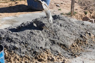 a picture of cement mortar