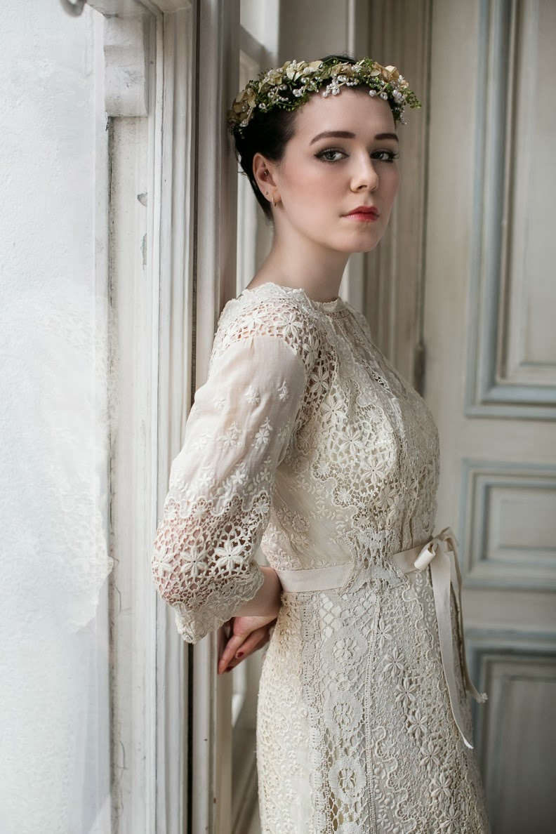 Edwardian Lace Wedding Dresses Two Rare Original Beauties