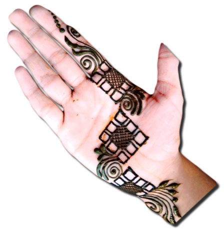 Square check Mehndi Designs