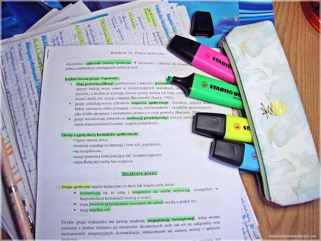 Notatki, nauka, sesja
