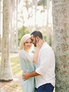 engaged couple girl smiling