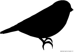 bird silhouette simple outline clipart