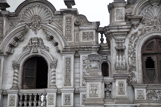 Colonial architectural detail, city center, Lima, Peru
