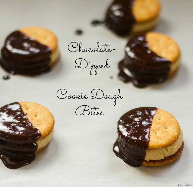 Chocolate-Dipped Cookie Dough Bites