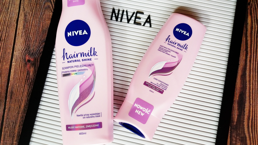 Nivea • Hairmilk Natural Shine, Mleczny szampon pielęgnujący i mleczna odżywka pielęgnująca, włosy matowe i zmęczone, proteiny mleka i jedwabiu