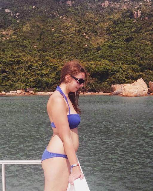 Girl on a junk boat   Lamma Island, Hong Kong