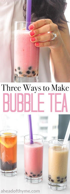 COCONUT BUBBLE TEA (HOMEMADE BOBA RECIPE)