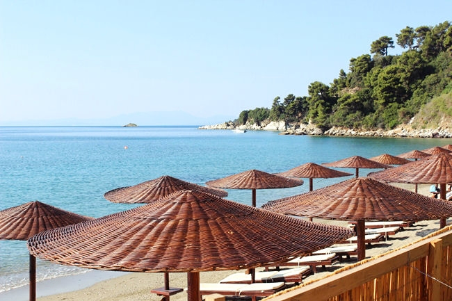 Skiathos hotels with their own beach