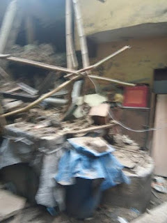 Photos: 3-storey building under renovation collapses in Lagos