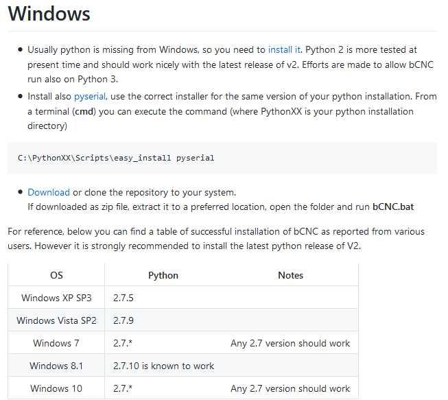 マーティーの工房日誌: bCNCのインストール(Win10 64bit)