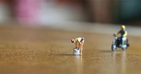 Foto Miniatur Orang Lucu dan Kreatif