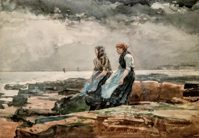 winslow homer watercolour painting seascape