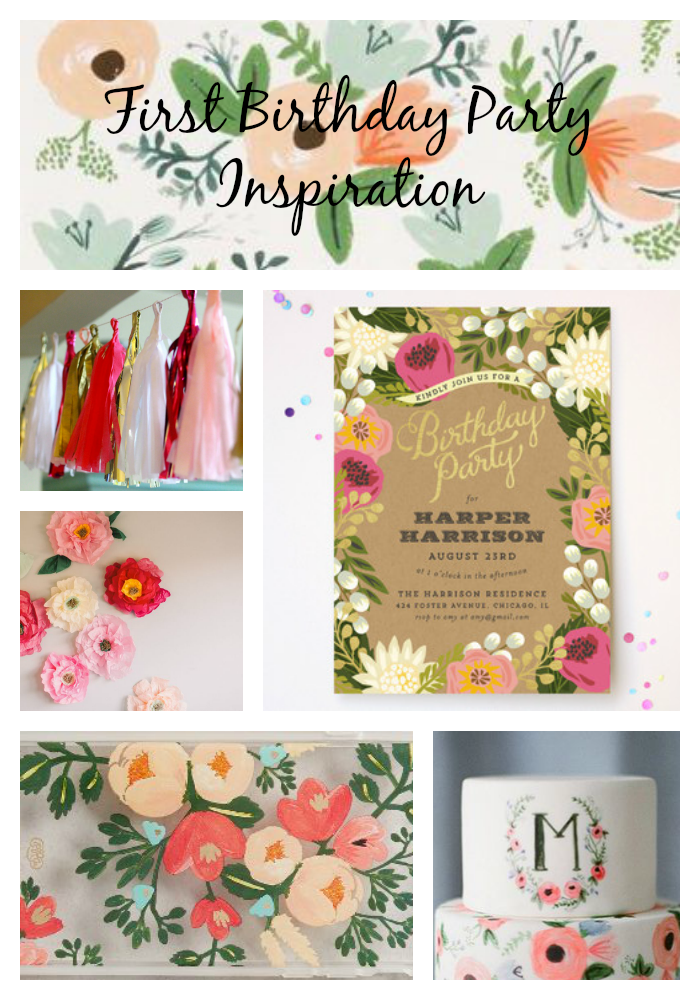 rifle paper co 1st birthday inspiration happily ever parker