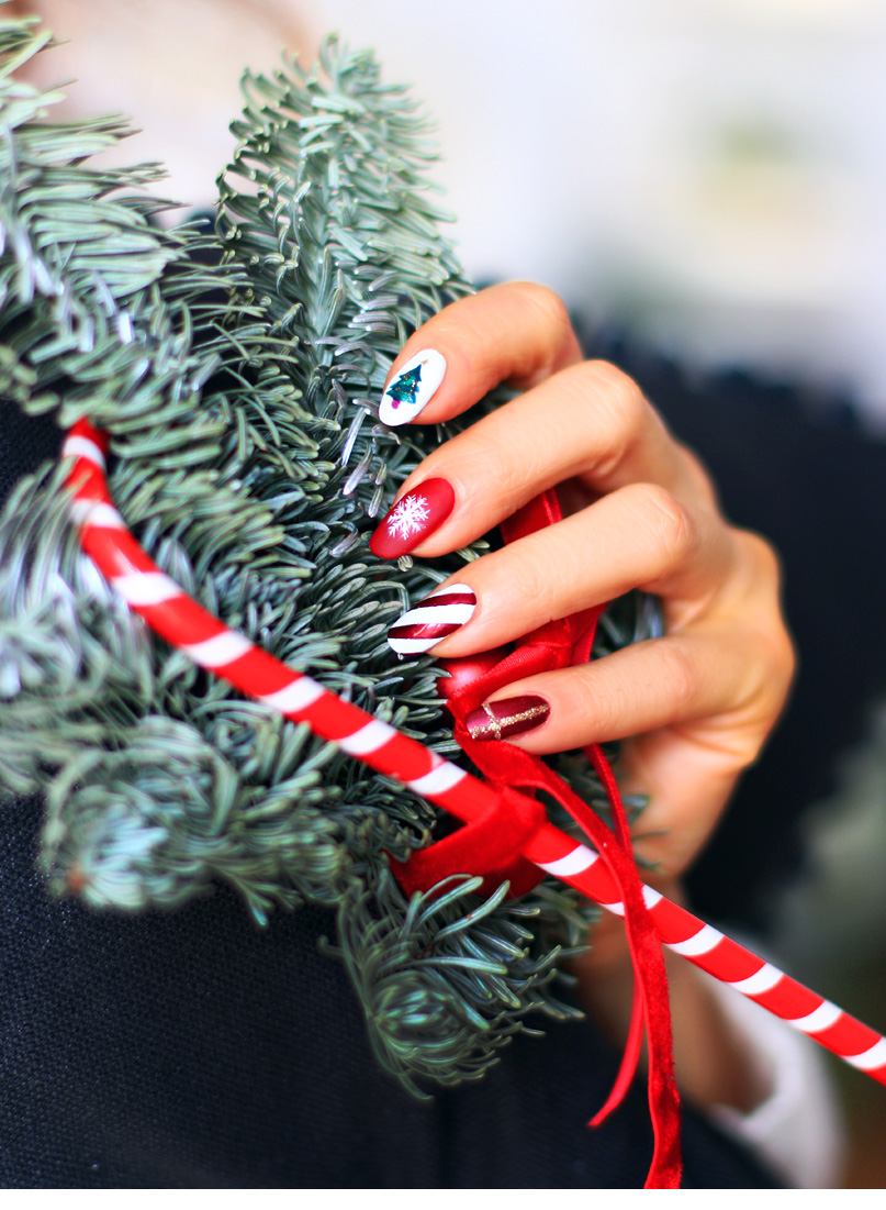 Alina Rose Blog Kosmetyczny świąteczny Manicure I Lakiery życzenia