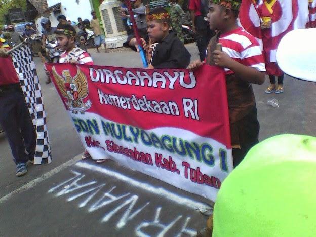 SDN Muoyoagung 1 karnaval SInggahan Tuban