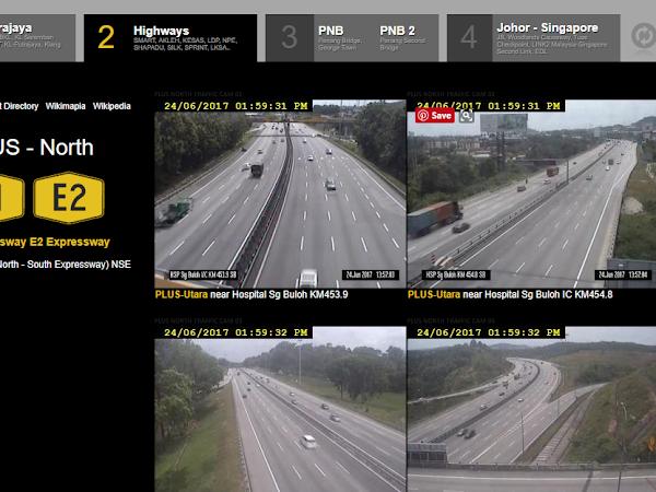 Rancang Perjalanan , Elak Kesesakan : Rujuk Rakaman Live Update CCTV disekitar Lebuhraya