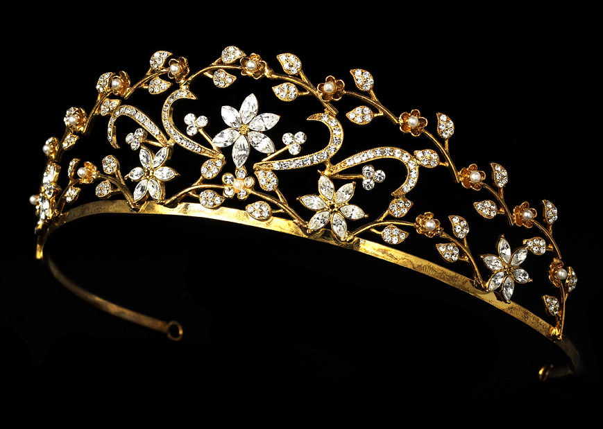 Collection Of Bridal Tiaras To Add Luxury  Wedding Dresses