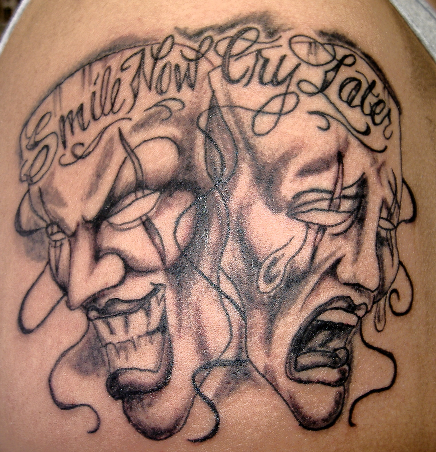 Smile Now Cry Later Tattoo: Jonat: Knowing Tattoo Pictures Laugh Now Cry Later