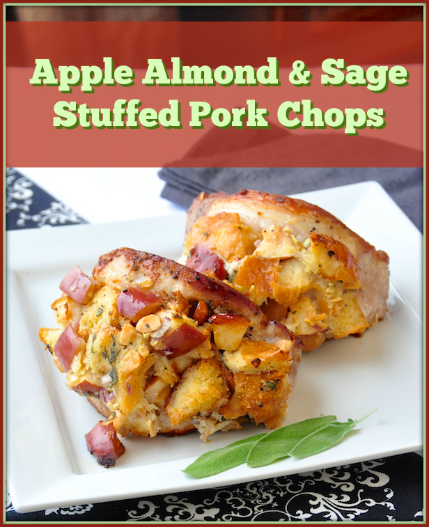 Apple Almond and Sage Stuffed Pork Chops